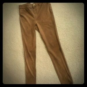 Chico's faux leather strait skinny stretchy pant